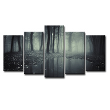 Fashion Frame Wall Decorations 5pcs / Set Modern Movie poster jungle Canvas Print Artist Decoration/Abstract (137)