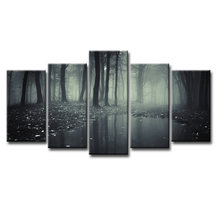 Fashion Frame Wall Decorations 5pcs / Set Modern Movie poster jungle Canvas Print Artist Canvas Decoration/Abstract (137)(China)