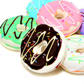 1PCS 7CM Squishy Mini Donut Key Chain Chocolate Noodles Sweet Roll Slow Rising