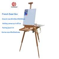 Регулируемый Деревянный Исполнитель Настольный мольберт с ручкой, картина маслом настольной коробке, для масляной живописи, эскиз мольбер