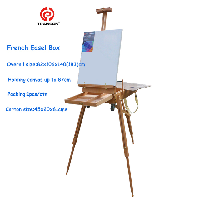 Buy adjustable wooden artist tabletop easel with handle oil painting tabletop Mini chevalet de table