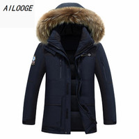 AILOOGE 2018 brand clothing men down jacket winter parka men warm thick coat viishow ice winter canada goode jacket