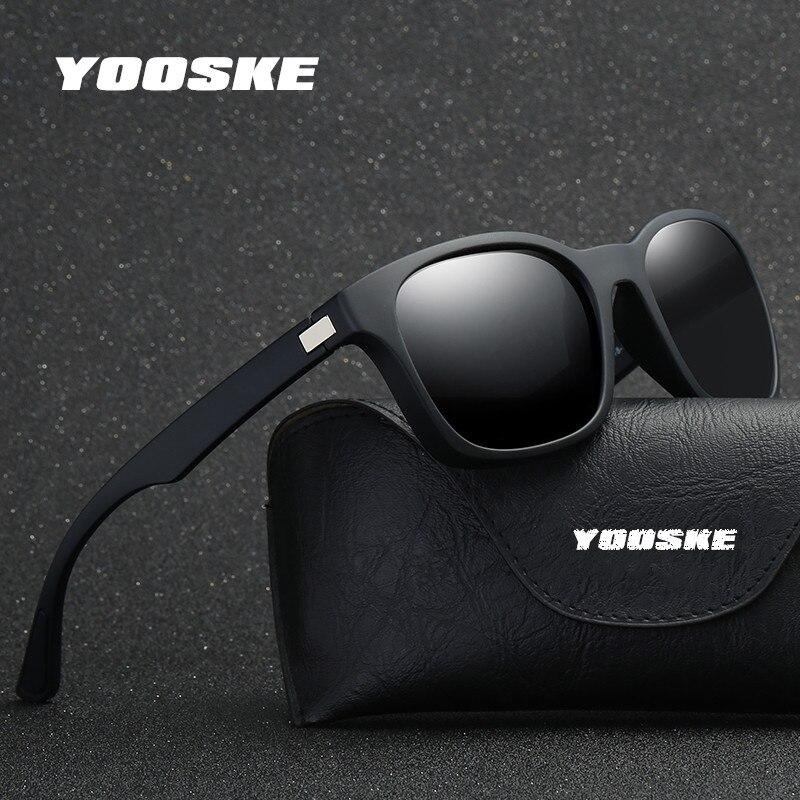 YOOSKE Männer Polarisierte Linsen Sonnenbrillen Mode Marke Designer Männlich Sonnenbrille Klassische Fahr Platz Brillen Für Männer HD UV400