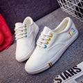 Girl's Summer Shoes Lace-UP Women Flat Canvas Shoes  Elegant Confortable Student Shoes Fashion Woman Flats Casual Shoes C045