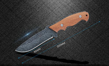 TRSKT F1 Knives 440c Blade With Red ebony Handle Hunting Knife Survival Rescue Camping Knives EDC Tool Dropshipping