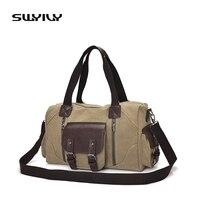 Canvas Unisex Gym Bag Retro Style Short Traveling Storage Handbag Fitness Training Sports Handbag Fo Rmen