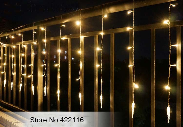 3m led string festival holiday curtain lights multicolor icicle 3m led string festival holiday curtain lights multicolor icicle ice column 150 led party christmas wedding marriage lights in led string from lights aloadofball Images