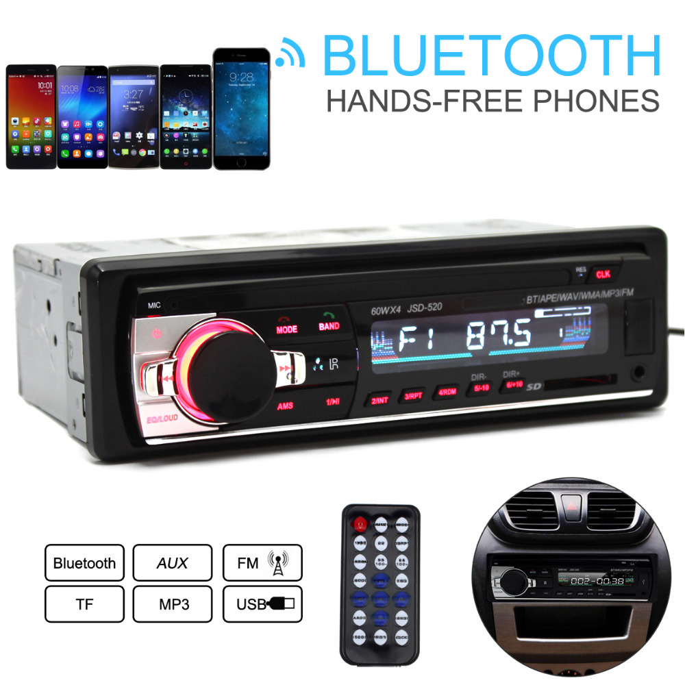 Autoradio font b Car b font Radio JSD 520 12V Bluetooth V2 0 font b Car