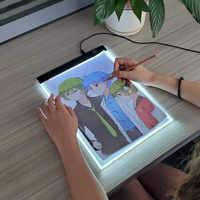 A4 nível pode ser escurecido led desenho cópia almofada placa de brinquedo das crianças pintura educacional crianças crescer playmate presentes criativos para crianças