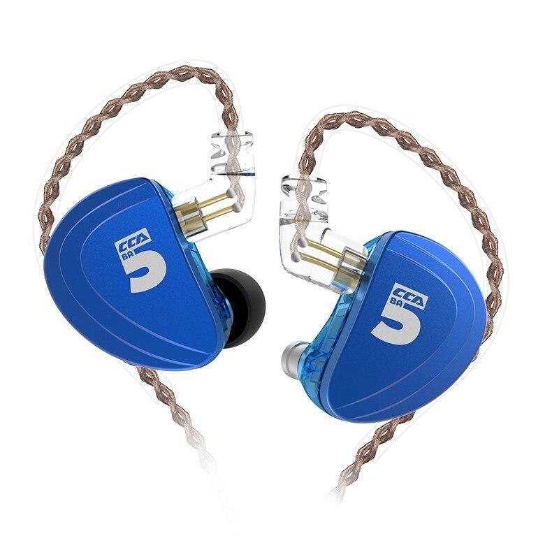 CCA A10 Earphones 5BA  Balanced Armature Drive Earphones In Ear Earbuds HIFI Bass Monitor Headset CCA C16 C10 CA4 AS10CCA A10 Earphones 5BA  Balanced Armature Drive Earphones In Ear Earbuds HIFI Bass Monitor Headset CCA C16 C10 CA4 AS10