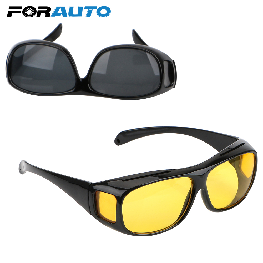 FORAUTO Night Vision Driver Goggles Unisex HD Vision Sun Glasses Car Driving Glasses UV Protection Polarized Sunglasses Eyewear