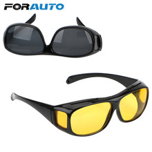 dc26b7c0cd9c8 FORAUTO de Visão Noturna Motorista Óculos Unisex HD Visão Carro Óculos De  Sol óculos de Condução Óculos de Proteção UV Polarizad.