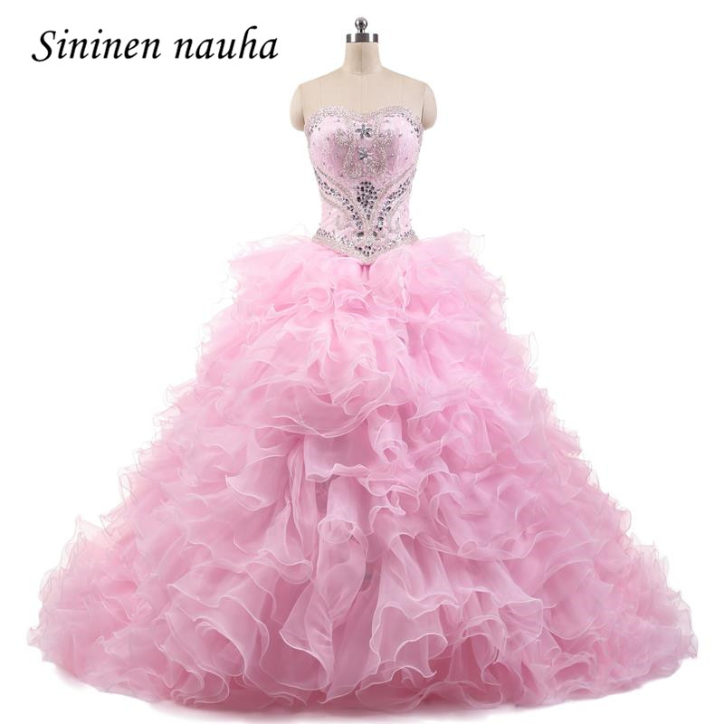 Pink Quinceanera Dresses Long Prom Party Dress 2 Pieces Detachable Lace Beaded Ball Gown Vestidos De 15 Anos Sweet 16 Dresses 90 image