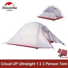 Naturehike Tent Camping Tent Ultralight 1 2 3 Persoon Man 4 seizoen Dubbele Lagen Aluminium Staaf Outdoor Reizen Strand Tent Met Mat