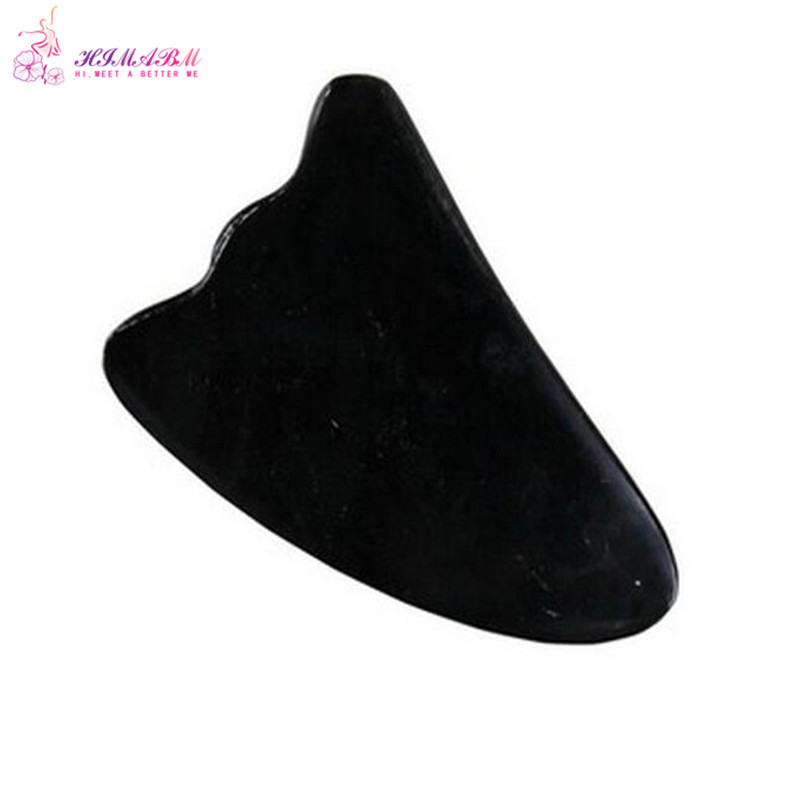 Natural horn scraping board ox horn massage guasha board beauty face Scrapping plate