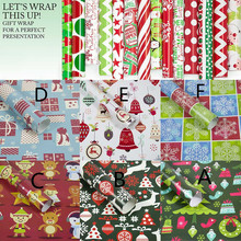 Christmas Wrapping Paper 3PCS Merry Gift Present Tree Wrap Xmas Party Decorative