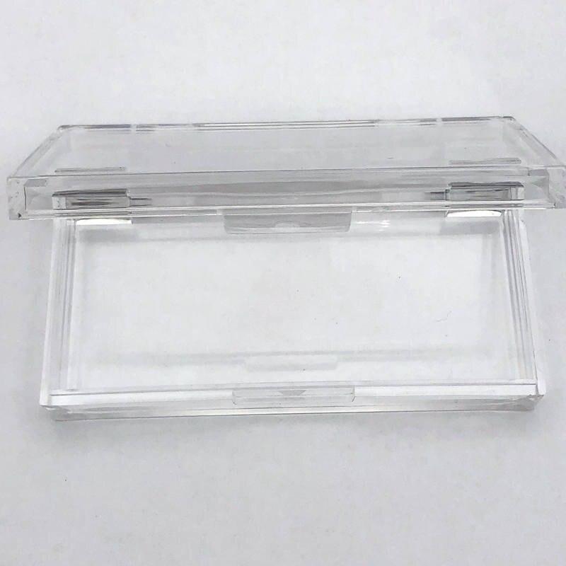 Caja cuadrada acrílica de plástico Mikiwi personalizada 20/50 Uds con bandeja al por mayor pestañas Logotipo de etiqueta privada caja de embalaje caja vacía