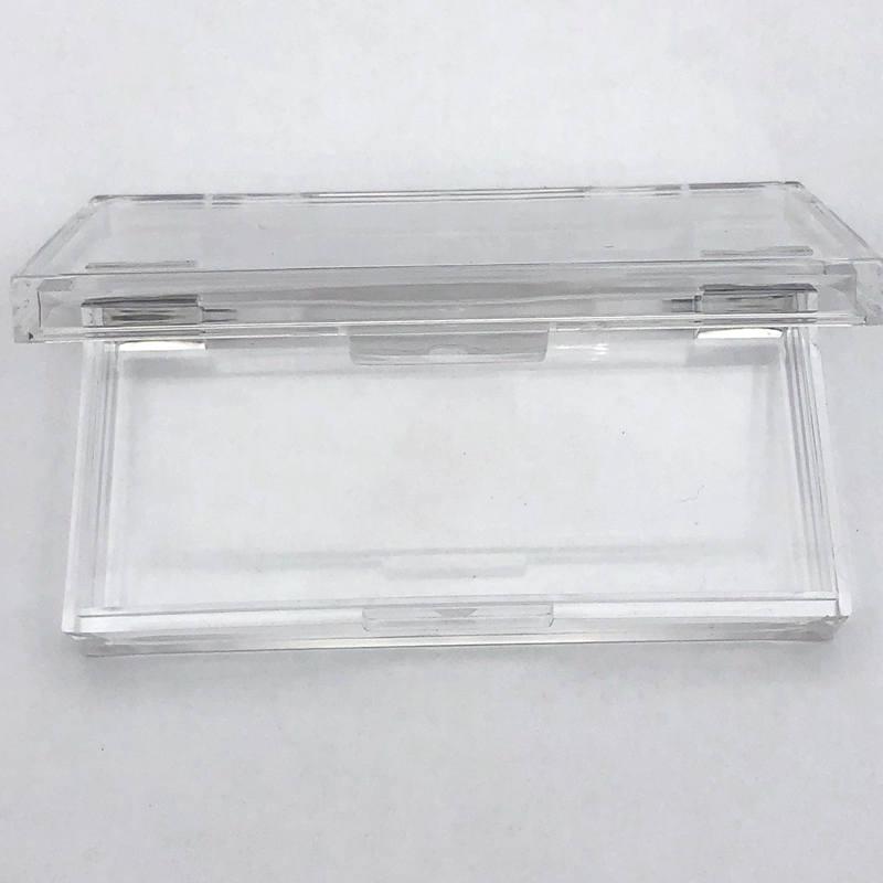 Mikiwi Custom 20/50 Uds caja cuadrada de acrílico plástico con bandeja pestañas al por mayor Logotipo de etiqueta privada caja de embalaje estuche vacío