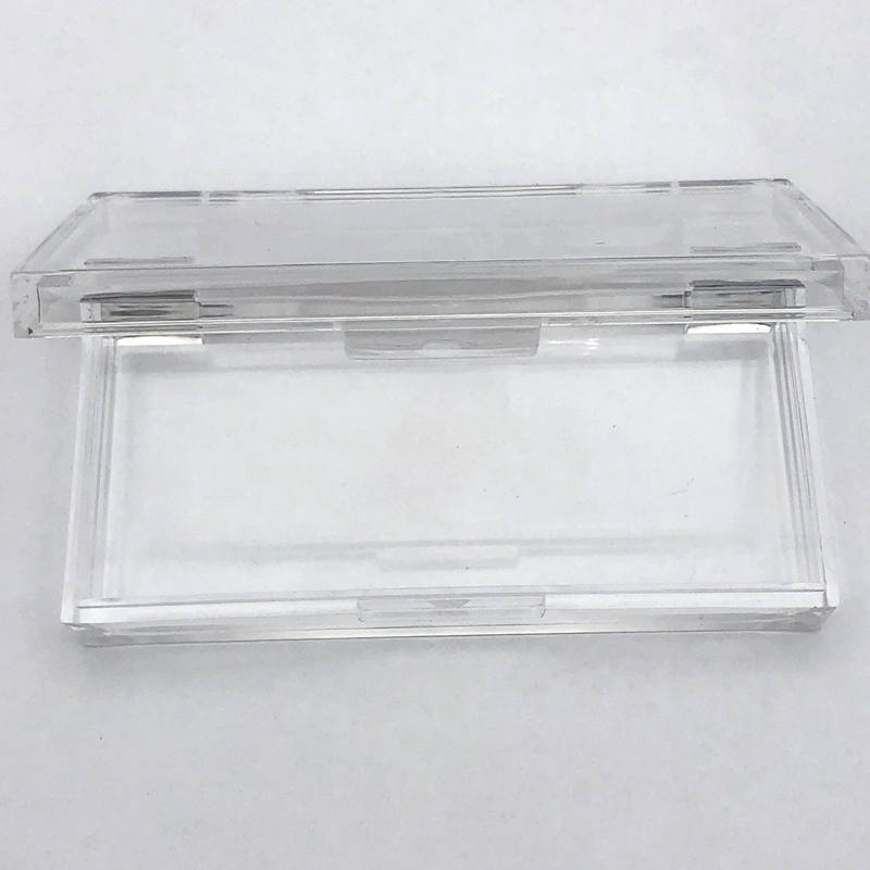 Mikiwi Custom 20/50pcs Plastic Acrylic Square Case With Tray Wholesale Lashes Private Label Logo Packing Box Empty Case