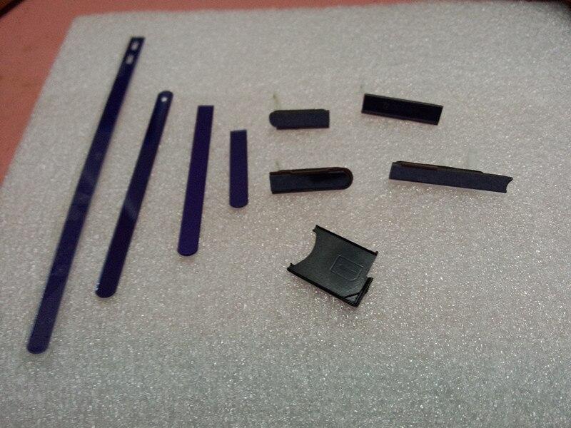Nuova Striscia Laterale Pulsante Cap + Lato Spine + SIM Card Slot Copertura Della Cassa Dell'alloggiamento Per Sony Xperia Z L36H C6603 C6602 L36G