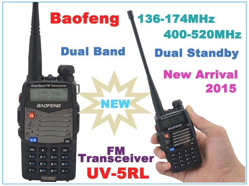 Baofeng UV-5RL 136-174MHz & UHF400-520MHz Dual Band 4W/1W 128CH FM 65-108MHz  FM Portable Two-way Radio With Free Earpiece