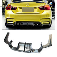 real M4 F8x carbon fiber v type rear bumper Lip rear diffuse car body kit for BMW M4 F8X 2014 up