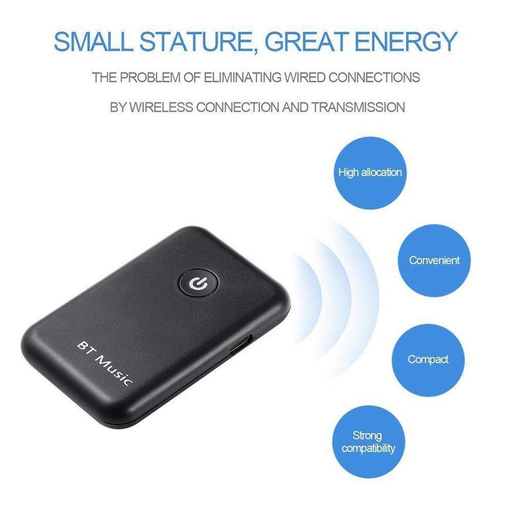 2 in 1 Wireless Bluetooth Transmitter Receiver Stereo Audio Music Adapter New GDeals dl link 3 5mm mini bluetooth audio transmitter a2dp stereo transmitter transmite dongle adapter for tv ipod mp3 mp4 pc