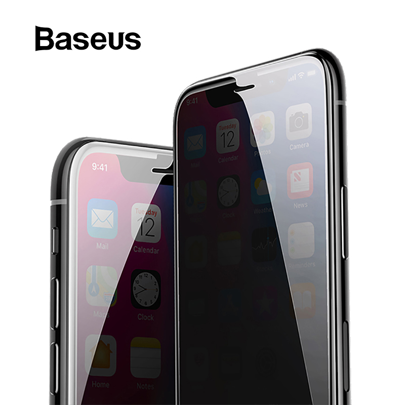 Baseus Anti Spy Screen Protector For iPhone X 0.3mm Full Coverage 9H Tempered Glass For iPhone X Protective Glass Film