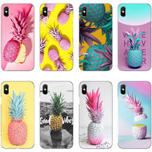 Pink Pineapple Golden Soft TPU Silicone Cover Phone Case for iPhone 11 Pro MAX SE 5 5S 6 6S 7 8Plus XR XS X10