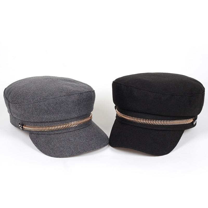 wool Beret Female Flat Flat Cap Hats For Women baseball Cap British Style caps Boina Feminina Gorras Spring Autumn Bone