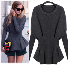2016 New Genuine Cashmere Sweater High Fashion Womens Batwing Shirt Sheep Wool Knitted Free