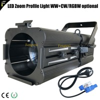 FTX 200Z RGBW 4in1 LED 200w Zoom Profile Light TV Studio Theater Stage Light Profile Spotlights with 17 50 Degree Zoom