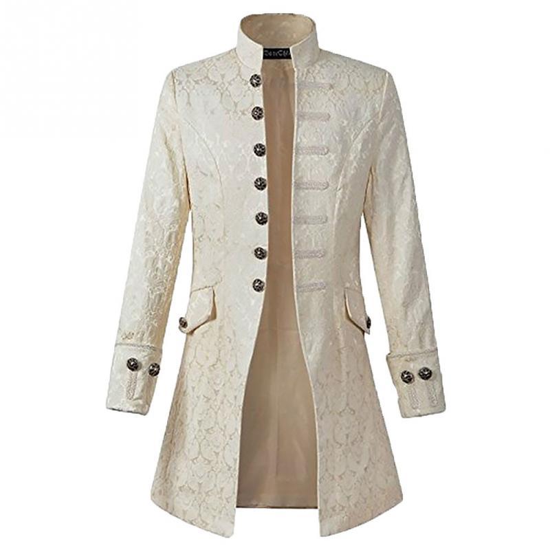 Men Autumn Spring Long Sleeve England British style Casual Jacquard Buckles Winter Standing Collar Warm man Coat