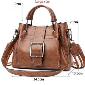 Image 2 - Yeni 2018 kadın askılı çanta Vintage omuzdan askili çanta kadın çanta tasarımcısı yüksek kaliteli PU deri bayan çanta ana kesesi