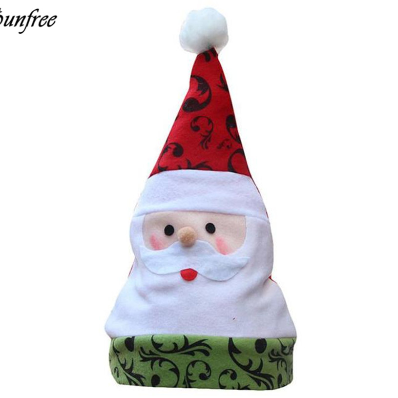 Sunfree New Unisex Adult Xmas Red Cap Santa Novelty Hat for Christmas Party New years Christmas Gifts Party Santa Hat Oct 19