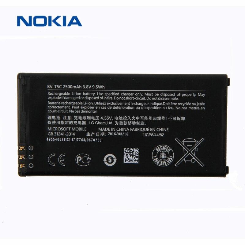 New Original Nokia BV-T5C téléphone batterie pour Nokia Lumia 640 RM 1113 1073 Double 1077 BVT5C 2500 mah