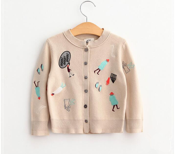 e79a91d22 YB60691352 Retail 2016 Autunm Fashion Baby Girl Cardigan Embroidery Toddler  Girl Sweatercoat Girl Clothes Lolita -in Sweaters from Mother & Kids