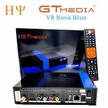 3 pièces/lot Gtmedia V8 NOVA bleu support H.265 meilleur freesat V8 super V9 super décodeur décodeur dvb S2 satellite récepteur intégré wifi