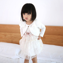 2017 spring and autumn baby girls lace cardigan jacket short