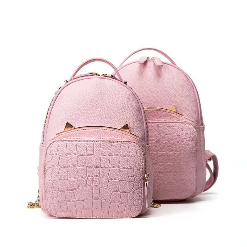 RanHuang Women Fashion Cat Designer Backpack PU Leather Alligator ...