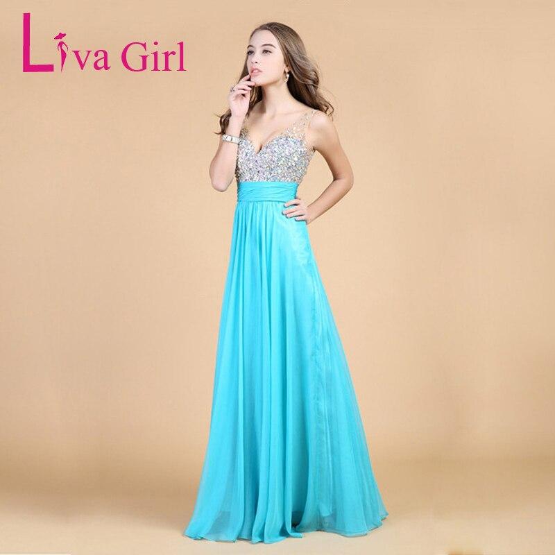 Liva girl 최고 품질의 다이아몬드 롱 드레스 들러리 백 레스 플러스 사이즈 시폰 드레스 v 넥 웨딩 파티 맥시 드레스 3xl 4xl-에서드레스부터 여성 의류 의  그룹 1