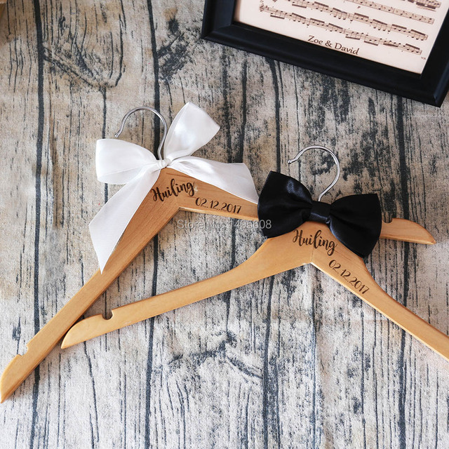 The name of the personalized production, wood wedding dress hangers ...