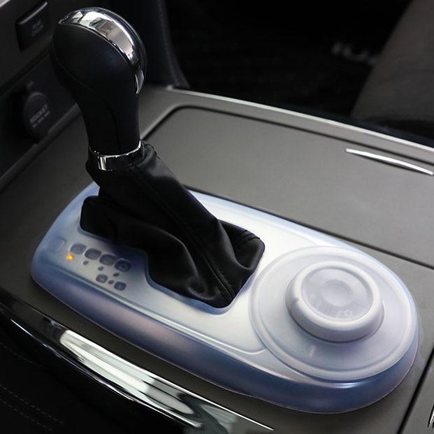 Couverture de boîte de vitesse antipoussière intérieure en caoutchouc souple pour Nissan patrouille Y62 Armada 2016 2017 2018 2019 accessoires