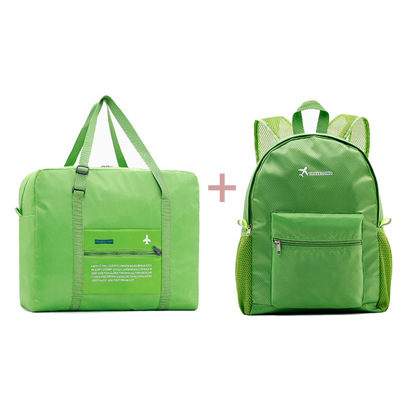 2018 Women Travel Bags Nylon Folding Bag Large Capacity Luggage backpack Travel Bags Portable Men Handbags Large Capacity
