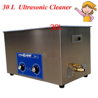 1pc 600W 30L Large Capacity Ultrasonic Cleaner Stainless Steel Cleaning Appliance with Mesh Basket PS 100