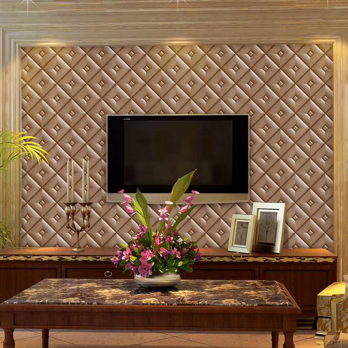 Купить с кэшбэком 2017 New Arrival Real Papel De Parede Paysota Luxury Faux Leather 3d Wallpaper For Wall Paper Roll Background Wallcoverings