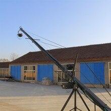 5m 3 axis jimmy jib crane for with motorized dutch head loading 16kg heavy video camera jib crane 3 axis dutch roll head remote controller for jib crane