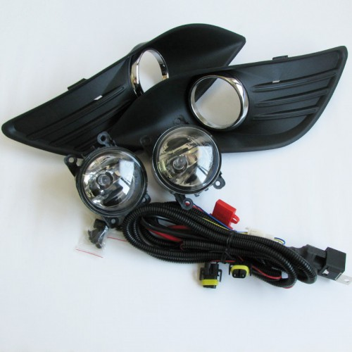 ФОТО Clear Lens Fog Drving Light Lamps & Covers Kits With Harness For Ford Fcous 2009-2011