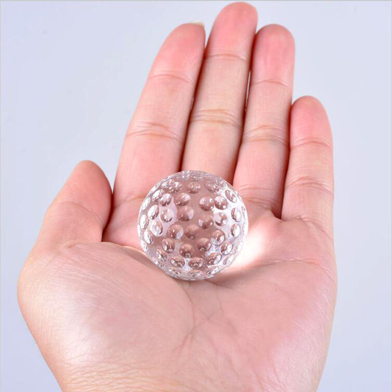 30mm Clear Crystal Glass Golf Ball Asian Quartz Ball Home Decor Fengshui Crafts Furnishing Ornaments Business Sports Souvenir