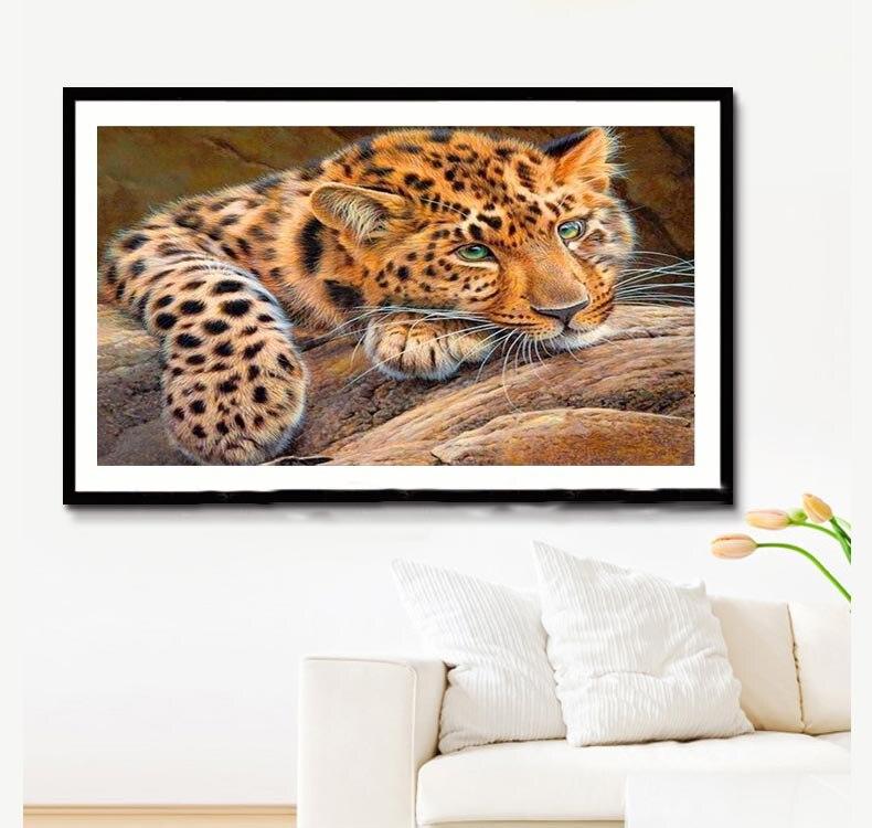 Diy 5d diamant mozaïek leeuw tijger handgemaakte diamant schilderen - Kunsten, ambachten en naaien